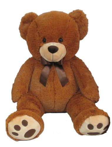 Plyšový medvěd světle hnědý, 60 cm