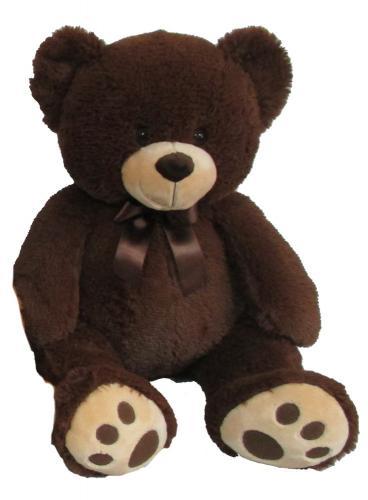 Plyšový medvěd tmavě hnědý, 60 cm