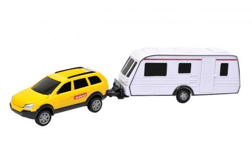 Auto s karavanem 1:32