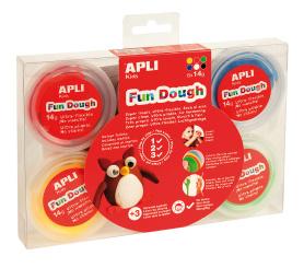 Fun Dough - samotvrd. modelovací hmota sada, 6 barev, 14 g s očičky, návod