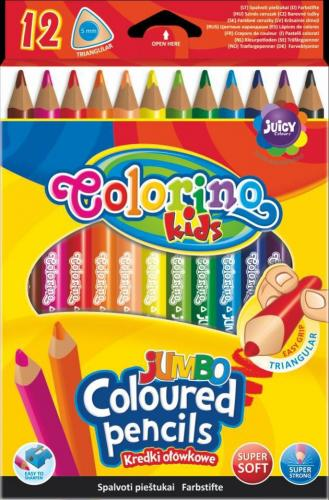 Trojhranné pastelky Jumbo, 12 barev