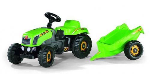 Rolly Kid-šlapací traktor s vlečkou zelený