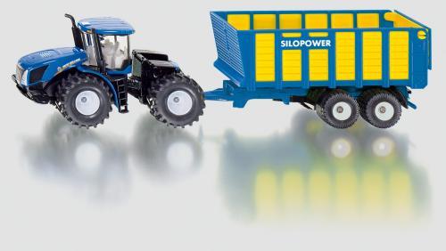 SIKU Farmer - Traktor New Holland s přívěsem Joskin, 1:50