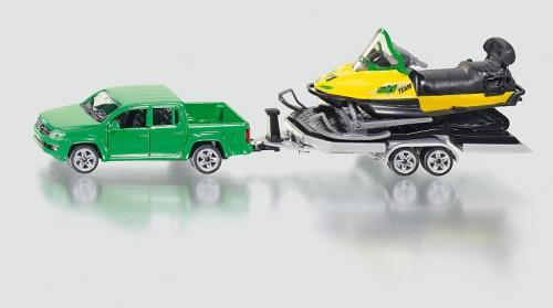 SIKU Super Auto s tahačem a sněžným skútrem
