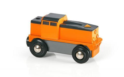 Elektrická nákladní lokomotiva (baterie AA není součástí) jezdí jen dopředu