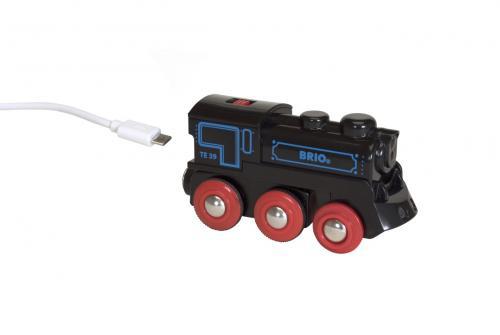 El. lokomotiva nabíjecí přes mini USB kabel