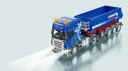 SIKU Control RC Tahač Scania R620 se sklápěcím návěsem a dálkovým ovládáním, 1:32