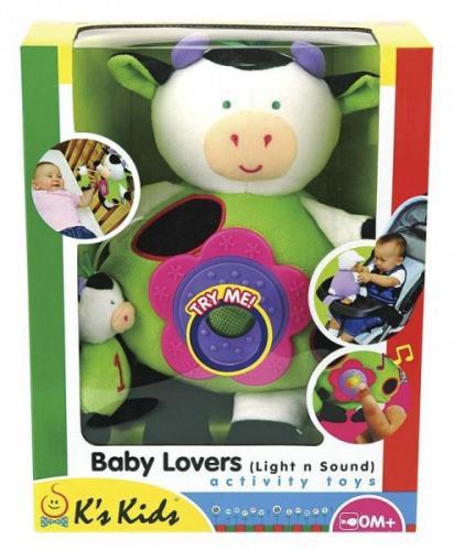 K´s Kids Elektronická kravička s mládětem, bliká, směje se
