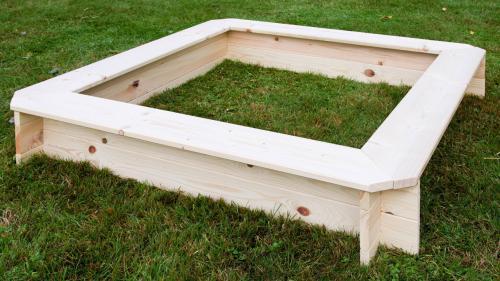 Dřevěné pískoviště 120x120 cm