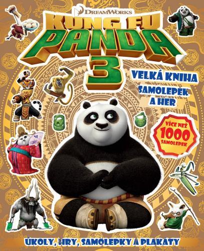 Kung Fu Panda 3 Velká kniha samolepek a her