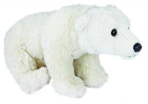 Plyšový medvěd lední sedící, 24 cm
