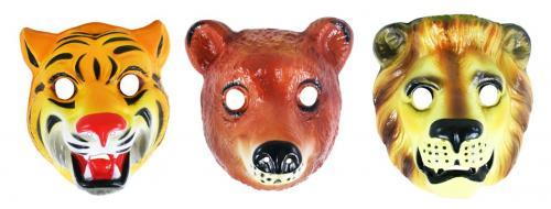Maska plastová zvířátka real,3 druhy