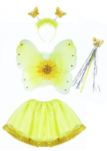 Karnevalový kostým slunečnice s křídly