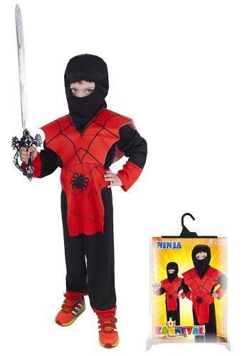 Karnevalový kostým NINJA pavouk, vel. M
