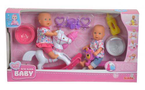 """New Born Baby Hrací set 2 panenky """"pije a čůrá"""""""