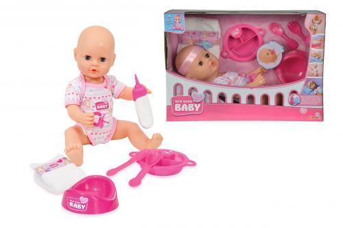 """New Born Baby Panenka 38 cm """"pije a čůrá"""" s příslušenstvím"""