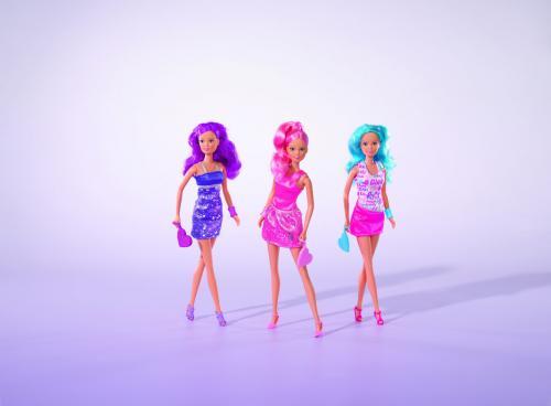 Panenka Steffi Fancy Hair, 3 druhy