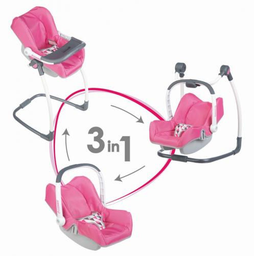 3v1 Autosedačka a židlička Maxi Cosi pro panenky