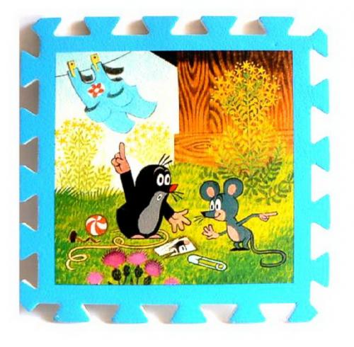 Pěnové puzzle Krtek 30x30, 8ks