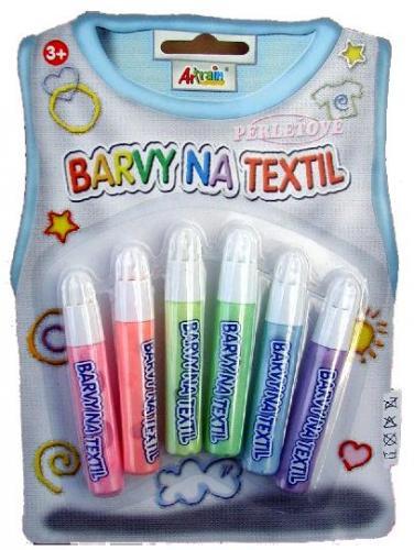 Barvy na textil- perleťové, konturovací 6x7ml