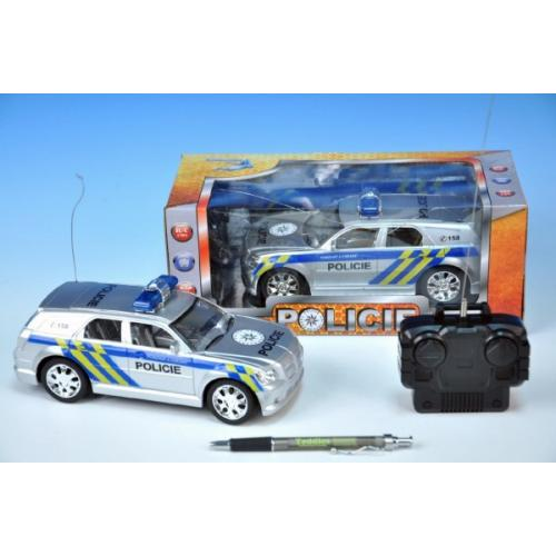 R/C auto policie 20cm 27MHz na baterie plná funkce v krabičce