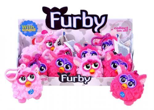 Přívěšek Furby plyš růžový 8cm na baterie se zvukem asst 2 druhy od 10 měsíců 12k