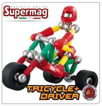 Supermag tříkolka a řidič 63 dílků