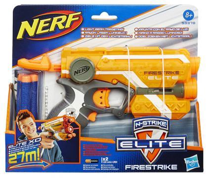 NERF Elite Firestrike pistole se světelným zaměřovačem