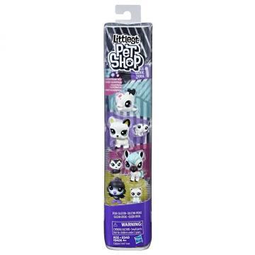 Littlest Pet Shop Černobílý set 8 ks zvířátek, více druhů
