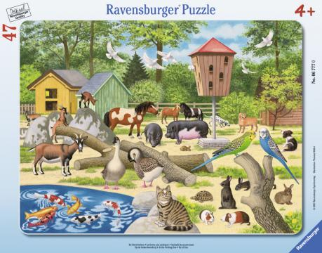 Ravensburger puzzle VZOO smalými zvířaty 30-48 dilku