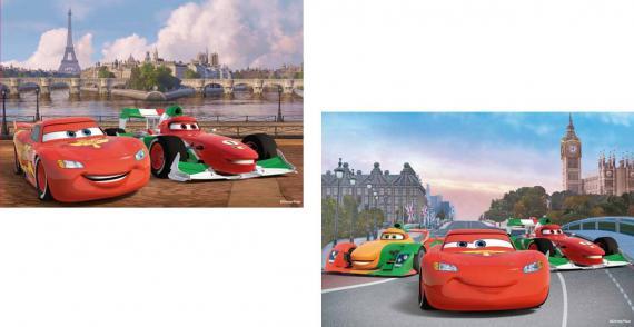 Ravensburger puzzle Cars McQueen a přátelé 2x12 dílků