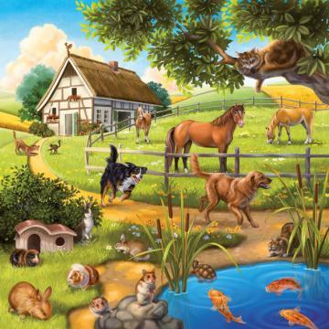 Ravensburger Puzzle Zvířátka 3 x 49 dílků