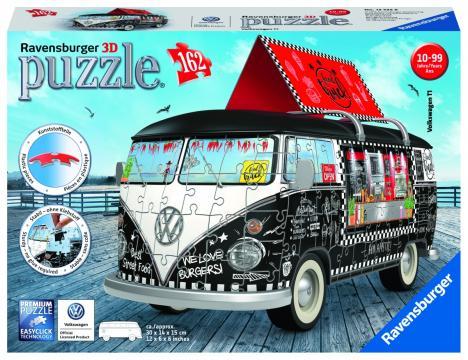 VW autobus motiv 2; 3D, 162 dílků