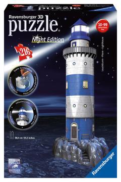 Ravensburger 3D puzzle Maják v příboji (Noční edice) 216 dílků