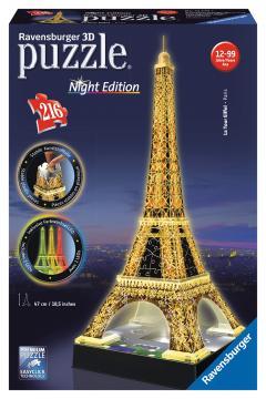 Ravensburger puzzle 3D Eiffelova věž (Noční edice) 216 dílků