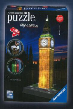 Ravensburger 3D puzzle Big Ben Noční Edice 216 dílků