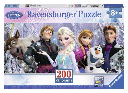 Ravensburger puzzle Ledové království Panorama 200 dílků