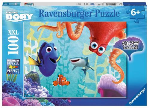 Ravensburger puzzle Disney Hledá se Dory 100 dílků svítící