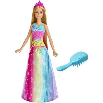 Barbie MAGICKÉ VLASY PRINCEZNA BĚLOŠKA