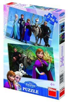 Dino puzzle Walt Disney Frozen 2x66 dílků