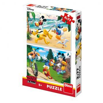 Dino puzzle Walt Disney Mickey sportuje 2x77 dílků