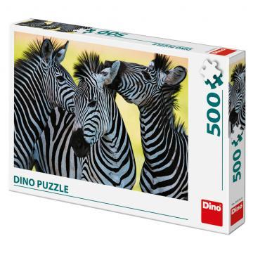 Dino puzzle Tři zebry 500 dílků