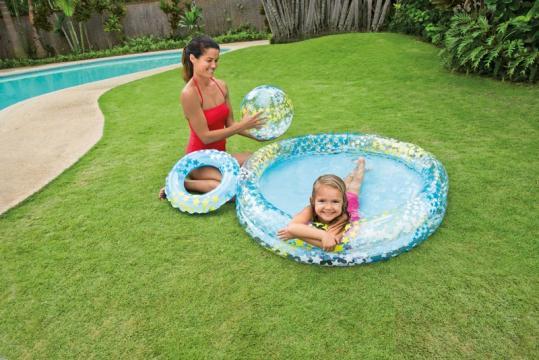 Set bazén, kruh a míč