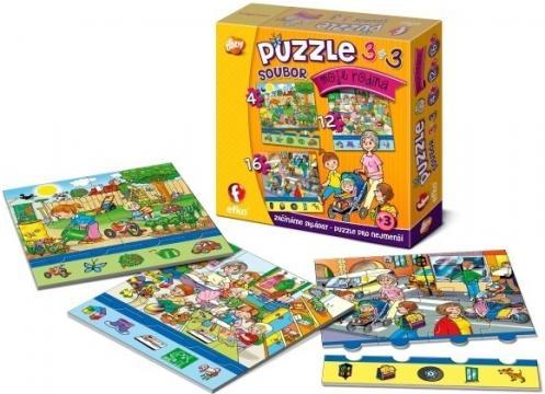 "Efko Soubor puzzle 3v1 ""Moje rodina"""