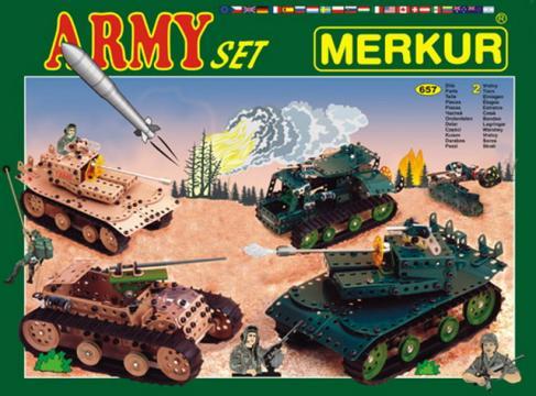 Stavebnice Merkur - Army set
