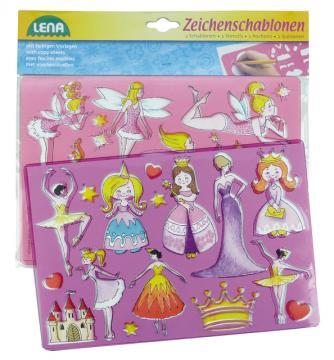 Princezny, baletky kreslící šablony