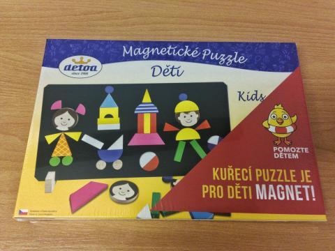 """Magnetické puzzle """"Pomozte dětem"""""""