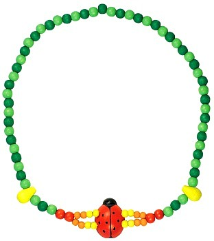 Dětský náhrdelník 2x provlečená beruška