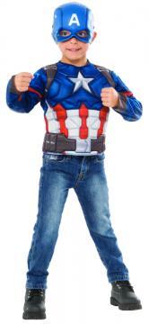 Avengers Infinity War: Captain America - kostým triko s vycpávkami a maska