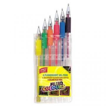 Pero gelové sada Fluo 6 barev